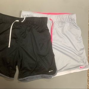 Nike Two Pairs of High Waisted Shorts(XL/Like New)